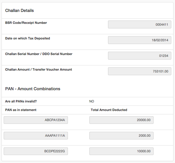 Verification Data Required for TRACES, part 2
