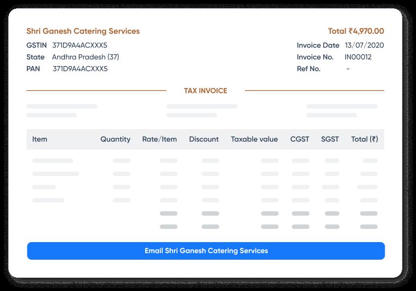 Create professional invoices