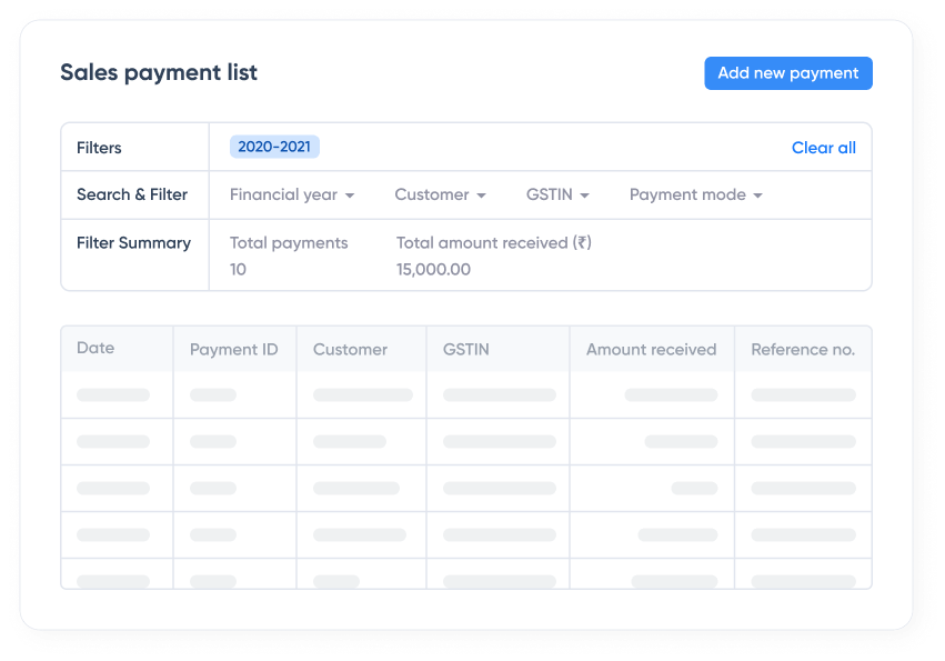 Track payments