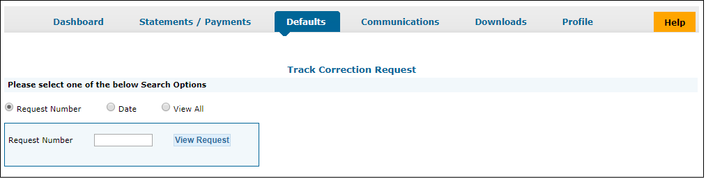 Track Correction Request on TRACES