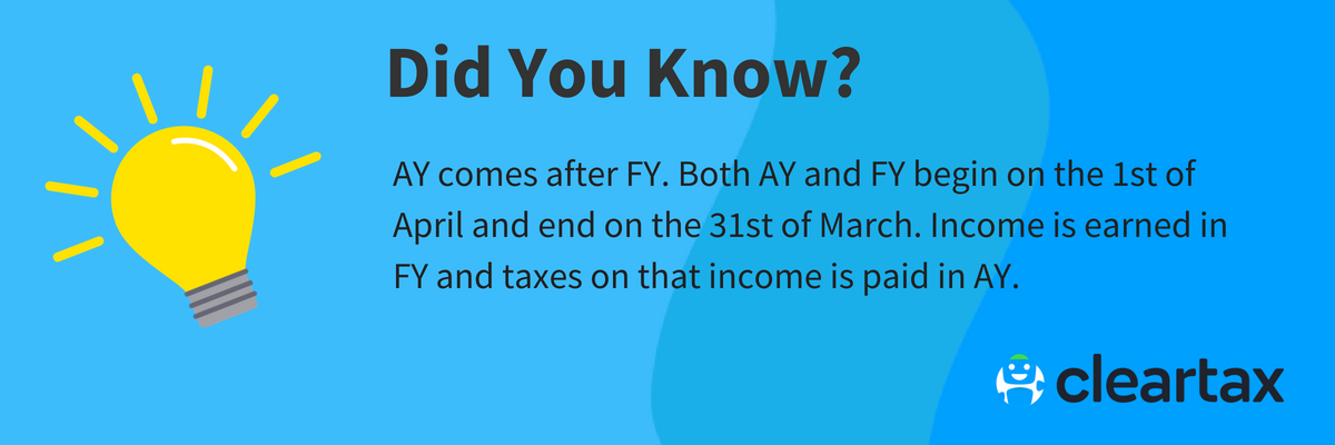 Difference Between AY - Assessment Year & FY - Financial Year