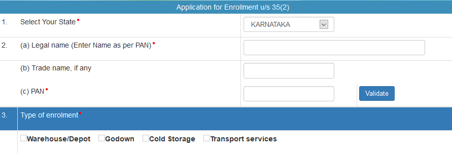Transporter ID Enrolment : E-Way Bill Transporter