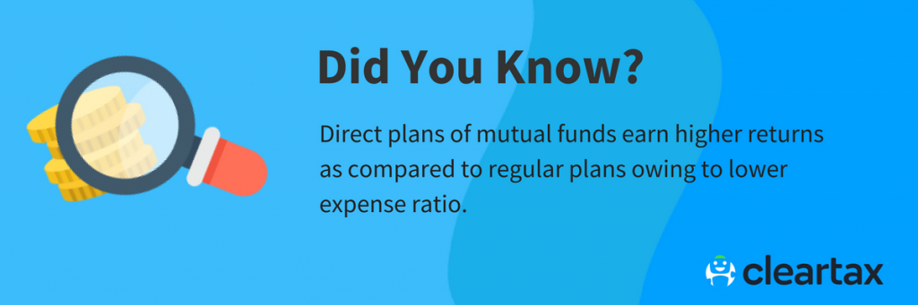 Direct plans of mutual funds