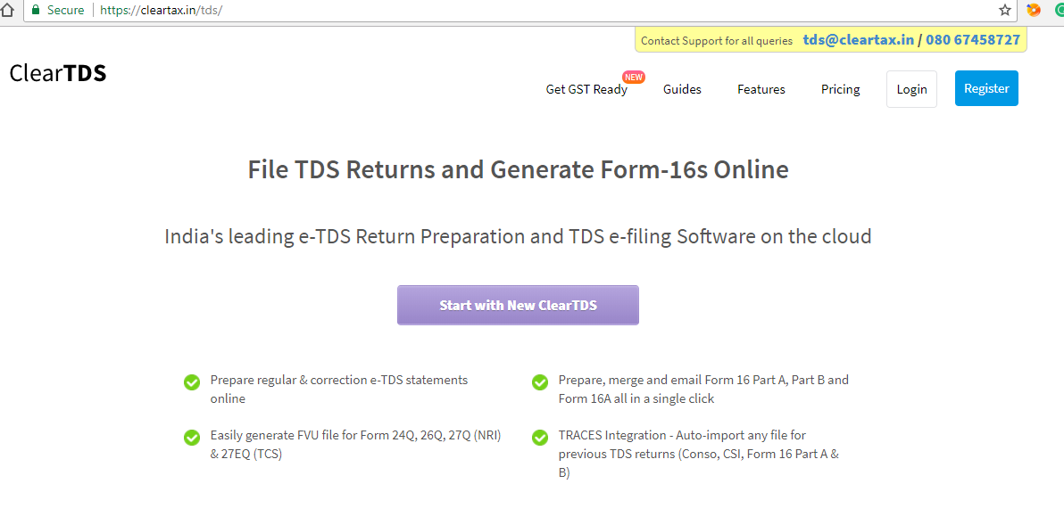 How To Prepare Tds Return On Taxcloud S Cleartds