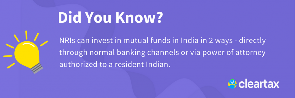 NRIs can invest in mutual funds