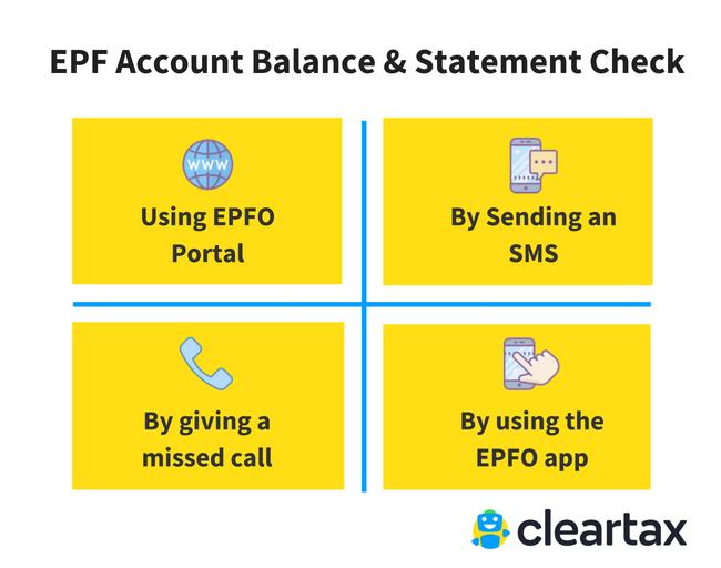 epf statement download