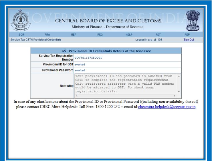 Enrollment for GST For Service Providers