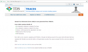 View Tax Credit Traces