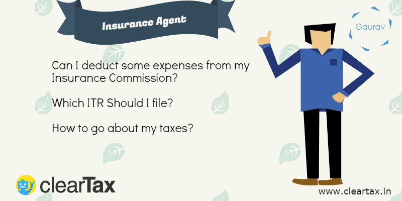 Income Tax Return for an Insurance Agent