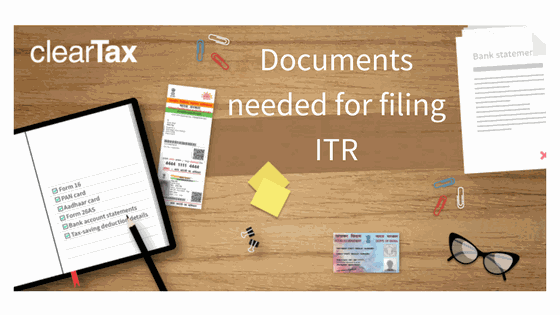 documents required for income tax return