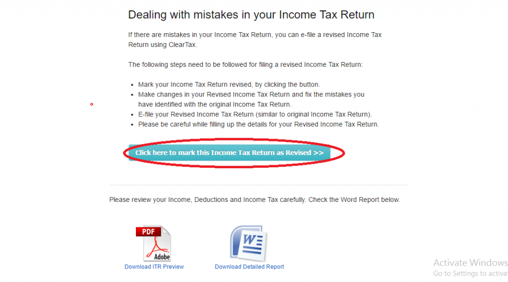How to Revise your Income Tax Return?