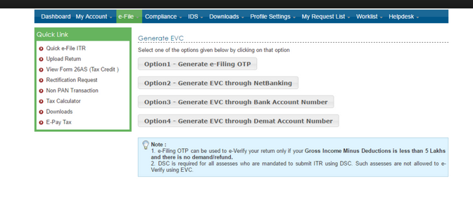 How to E-verify your Income Tax Return using Bank Account