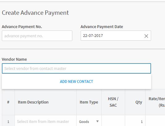 Advance Payments No.