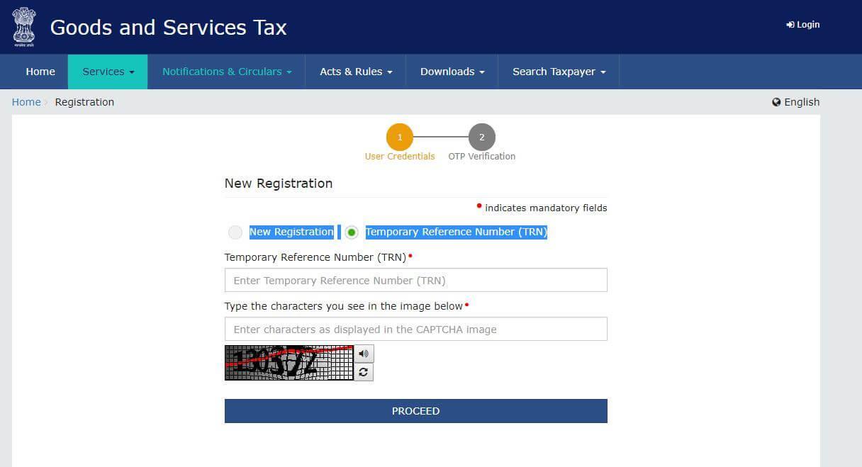 GST registration steps