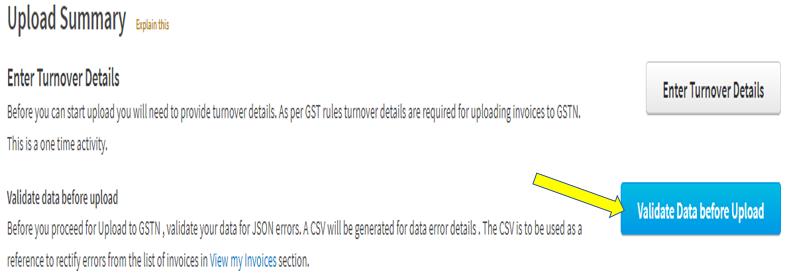 GSTR1 JSON errors and resolutions | GST Portal