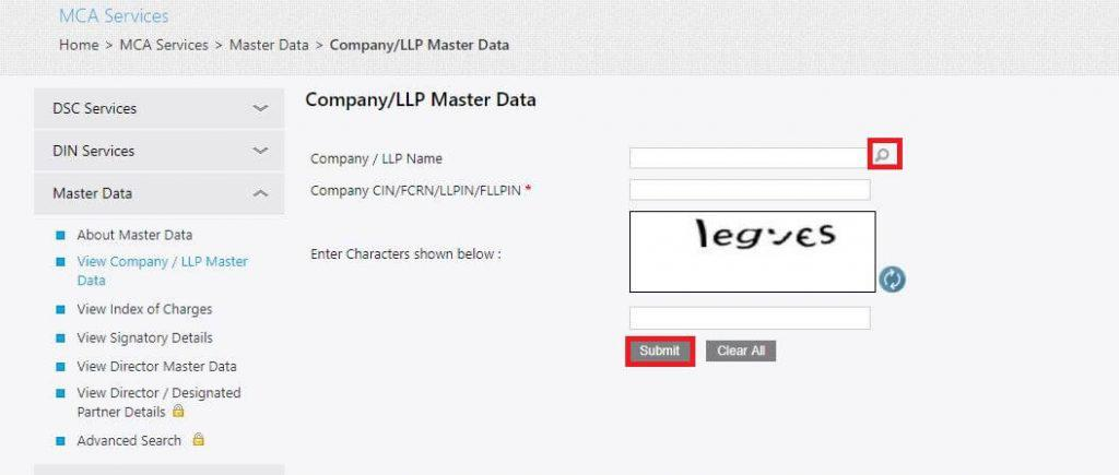 company registration status step 2
