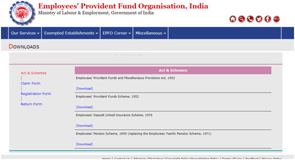 PF Withdrawal Procedure - EPF Withdrawal Form, Rules, Status Online