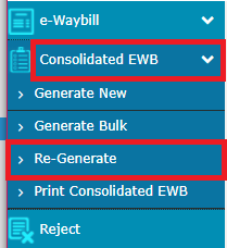 re-generate Consolidated EWB