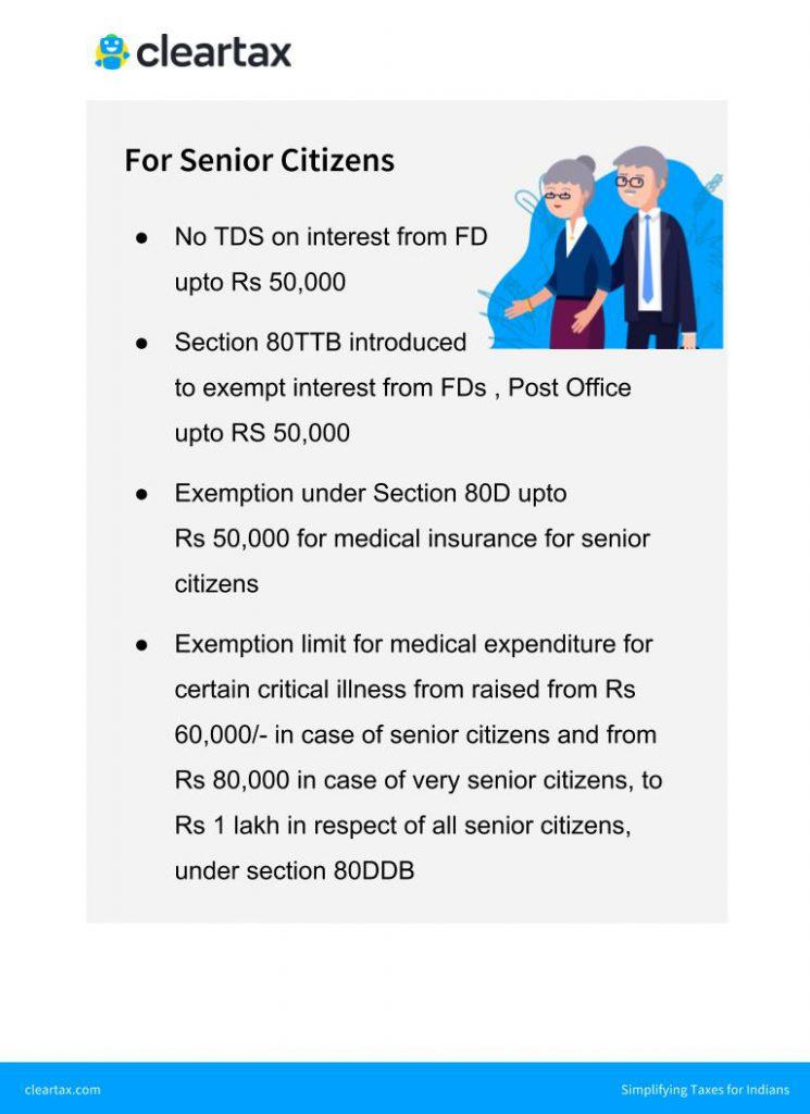 Budget 2018 - Senior Citizens