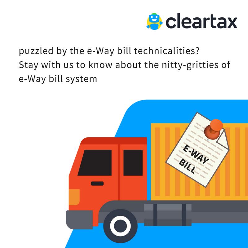 GST E Way Bill - Generate Form EWB 01 Online - Format, FAQs