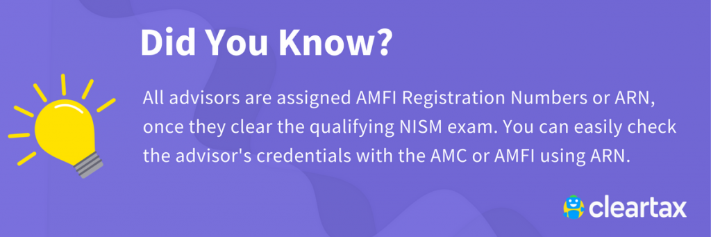 AMFI Registration number