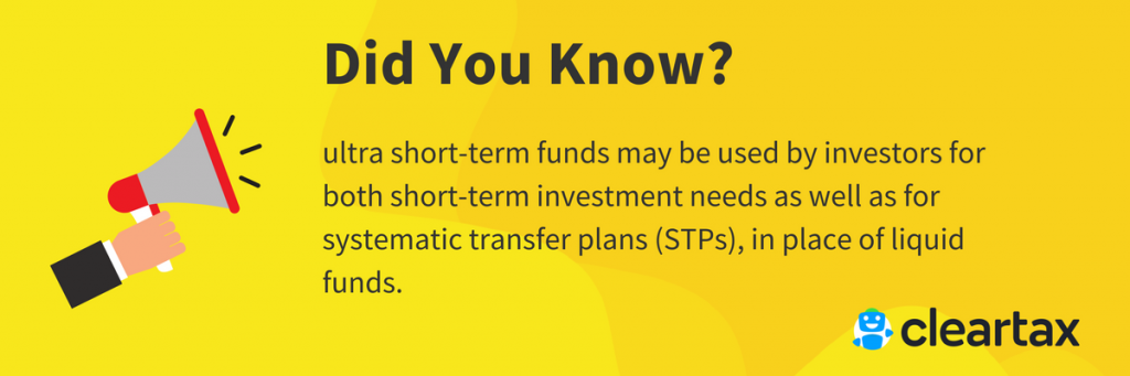 ultra short-term funds