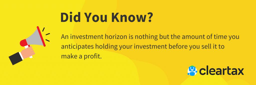 Investment horizon