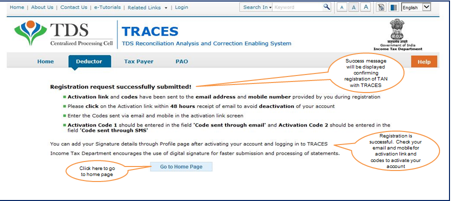 How to get registration in TRACES?