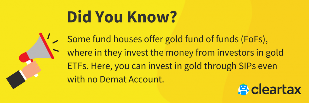 invest in GOLD through SIP