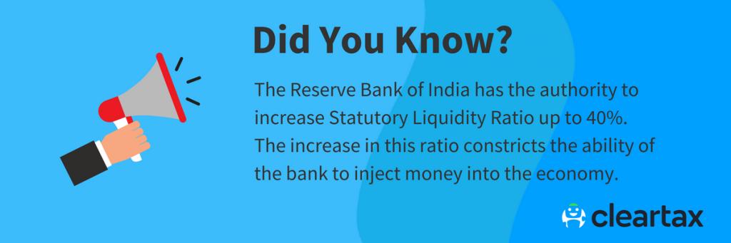 Statutory Liquidity Ratio