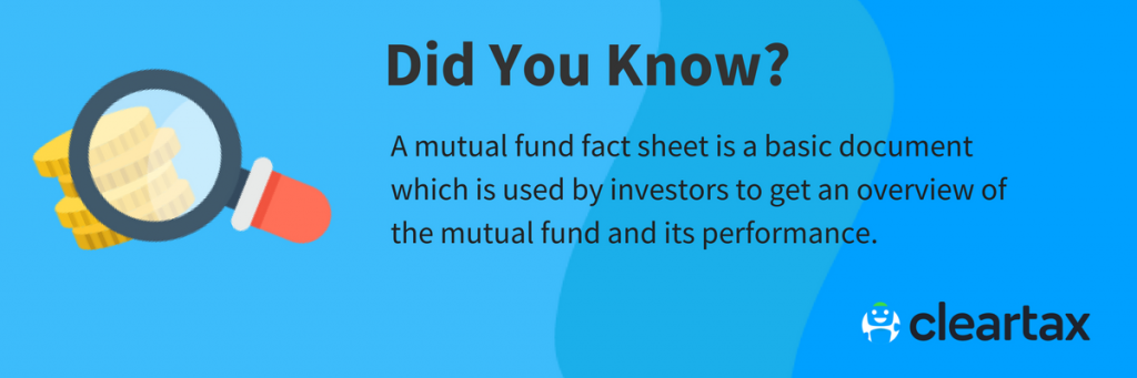 Mutual Fund Fact Sheet