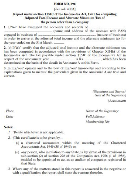 Form 29C