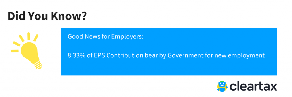 EPS Contribution by Government