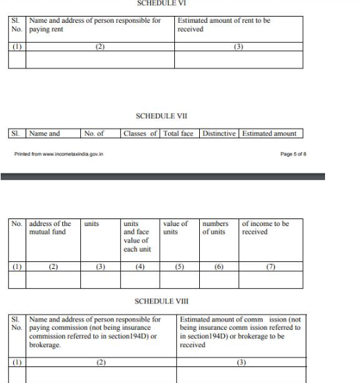 Form 13 Non Deduction Lower Deduction Of Tds Under Section 197