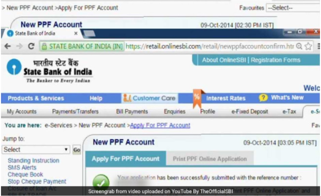 PPF account created
