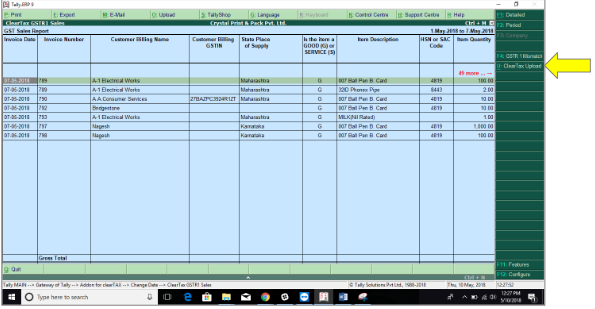 Guide to use ClearTax Tally Connector : File GST returns from Tally