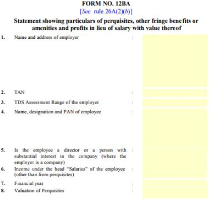 Form 12ba Overview Applicability Format Much More