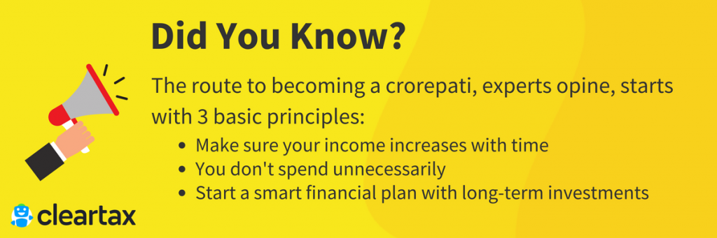 The route to becoming a crorepati