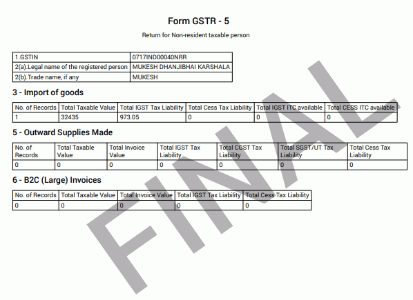 GSTR -5