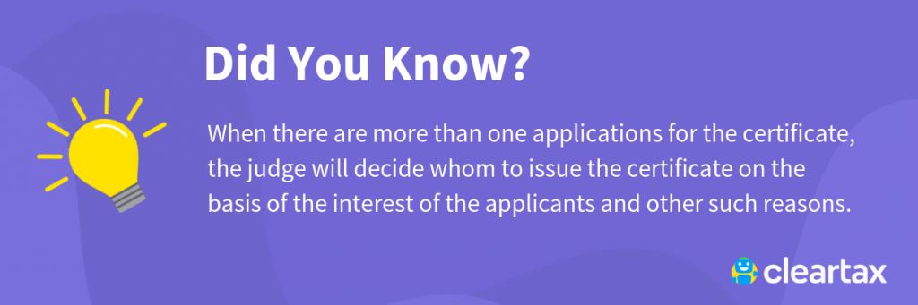 Succession Certificate - Procedure & Format