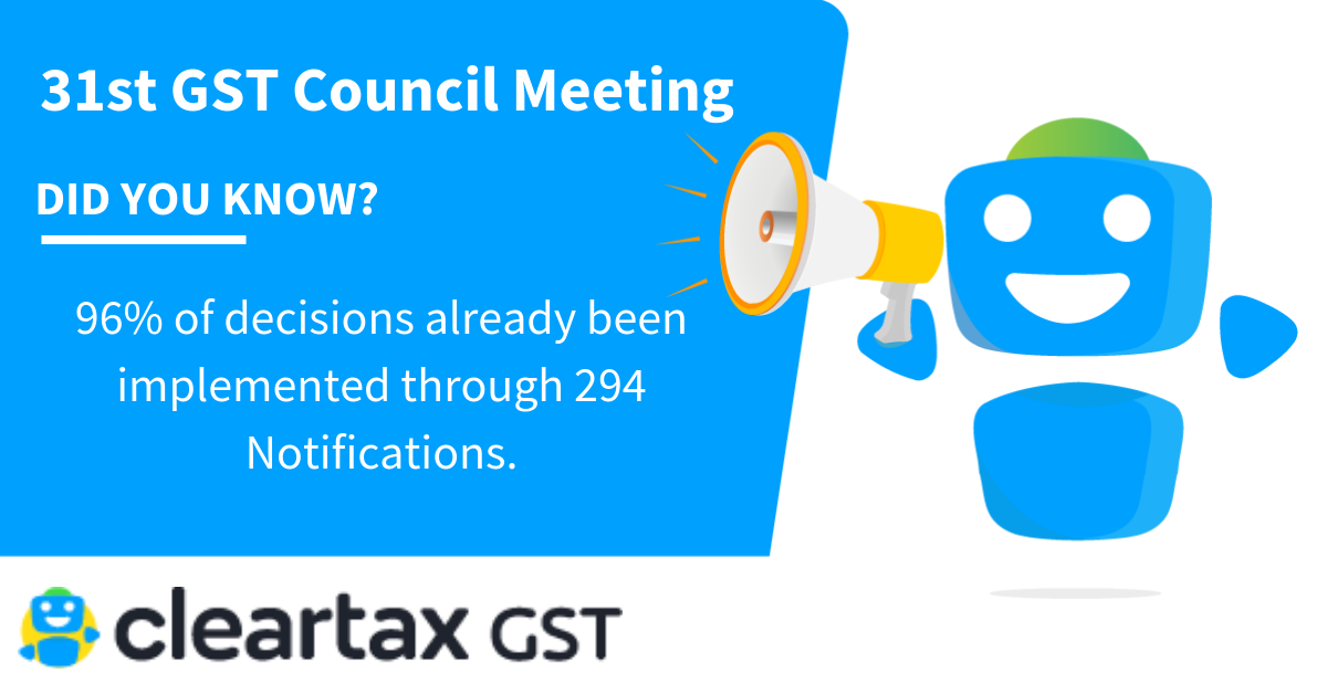 31st GST Council meeting