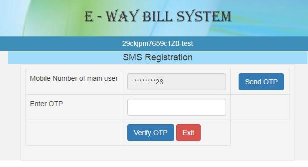 E-Way Bills : How to create/cancel E-Way Bills via SMS ?