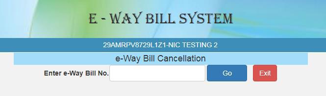 e-way bill