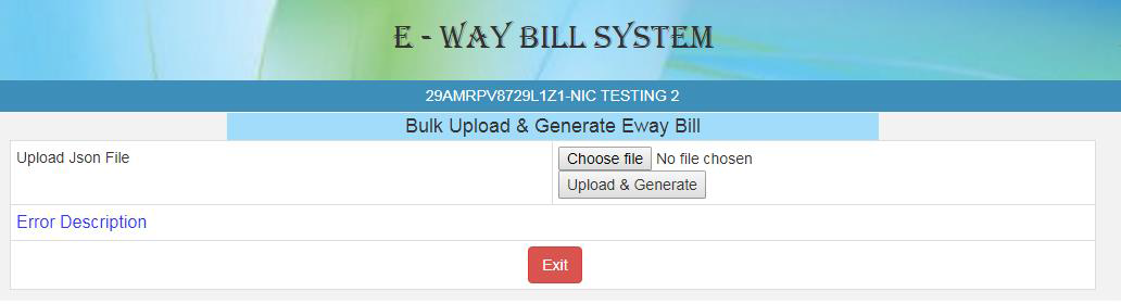 How to use Bulk Generation facility on the eway Bill portal?
