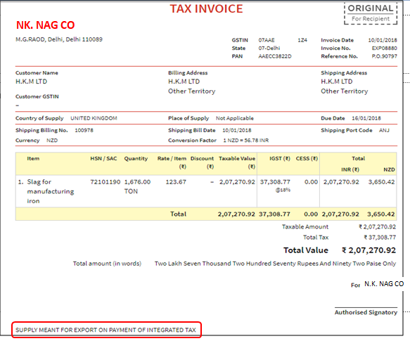 Cleartax Gst Software How To Create Export Invoices