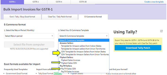 ClearTax GST Software- How to Create, View, Bulk Import