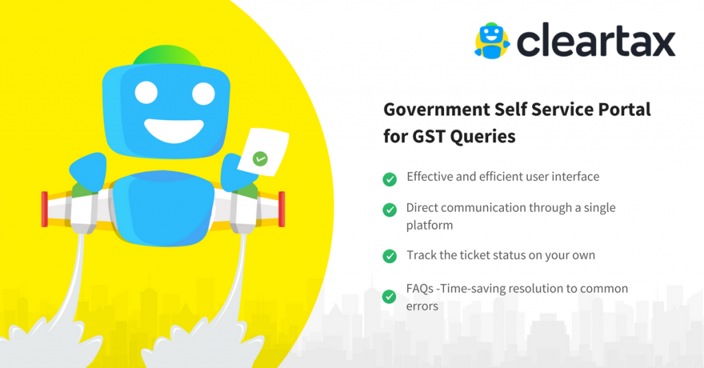 Government Self Service Portal for GST Queries