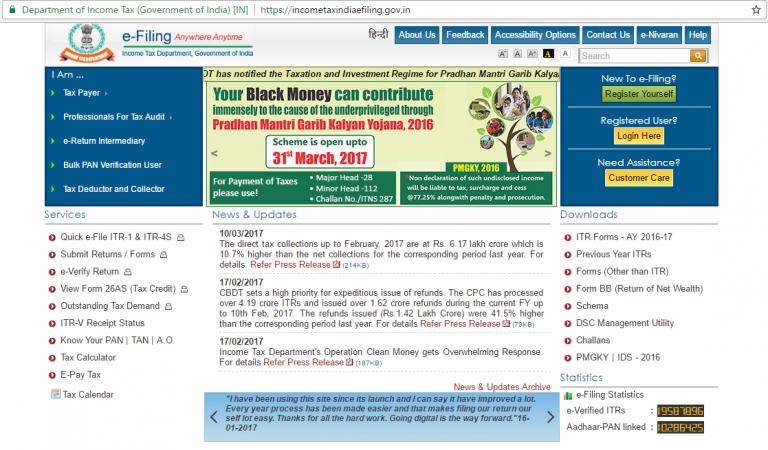 E-filing website