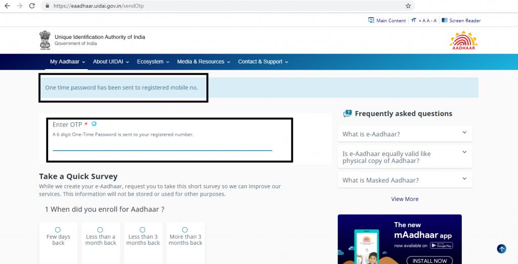 aadhaar online download