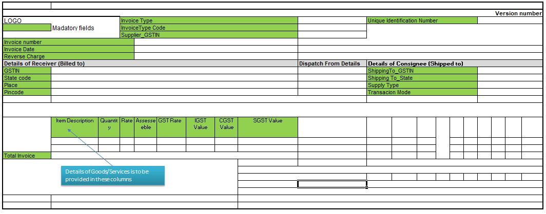 E-invoice_Mandatory fields